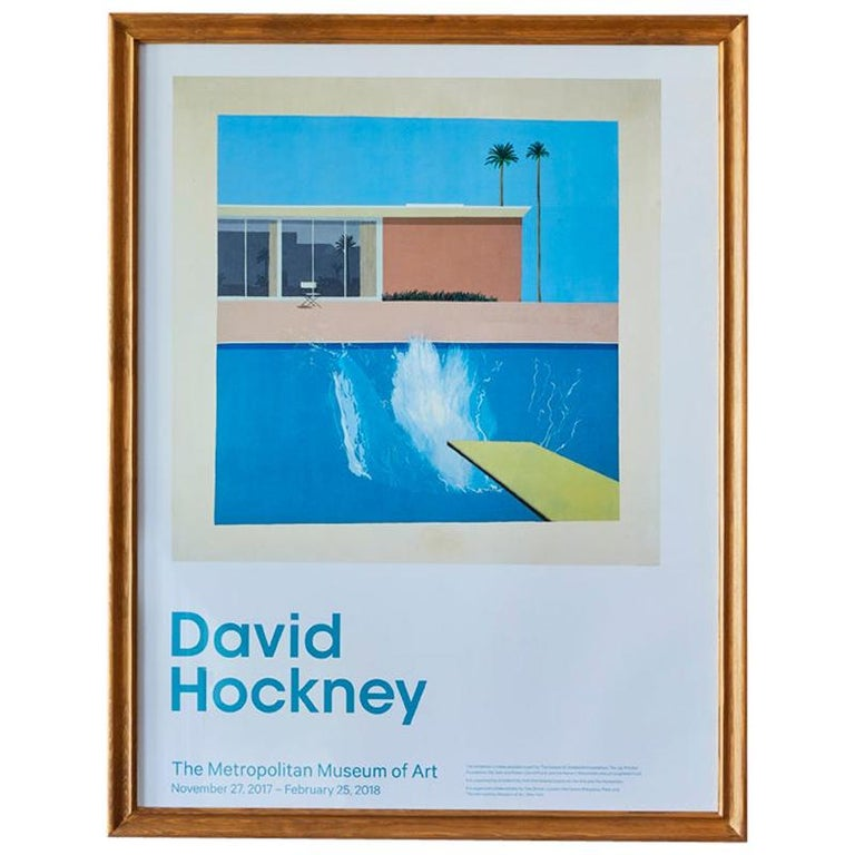 David Hockney Lithograph Poster 'A Bigger Splash', New York, 2017 For Sale