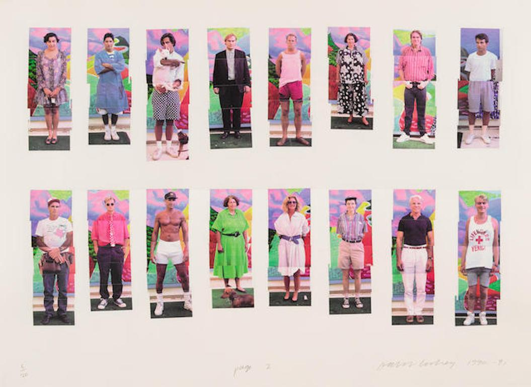'112 LA Visitors' Signed Limited Edition Laser Print Photographic Collage