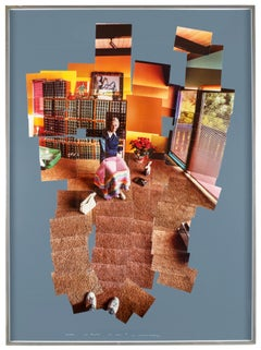 Mother, Los Angeles December 1982 Hockney Large Scale Framed Photo collage