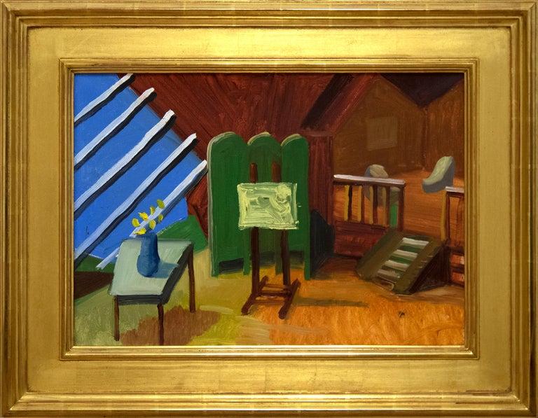 Bridlington Studio Interior - Painting by David Hockney