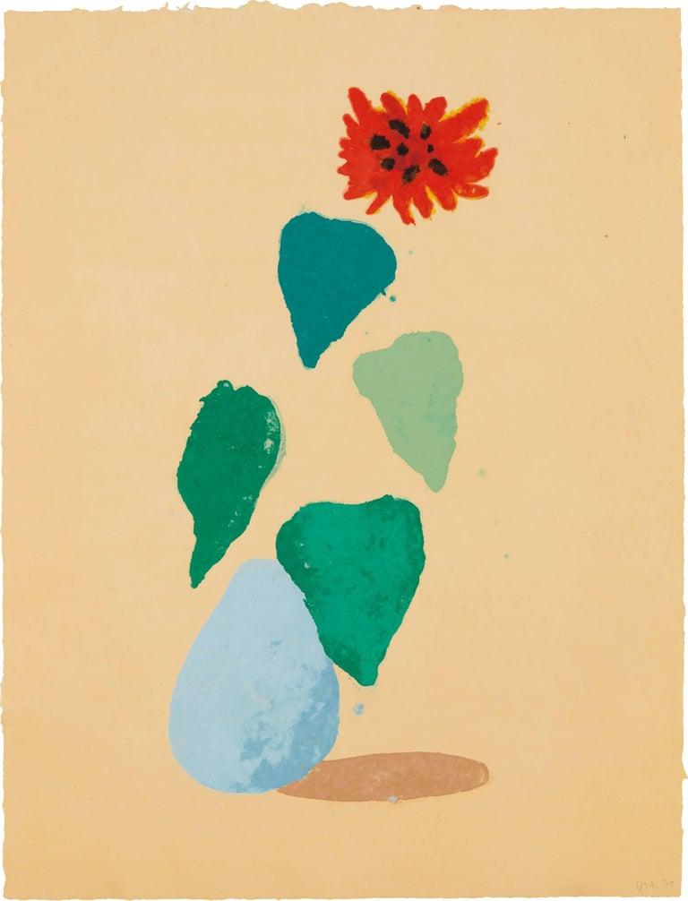 David Hockney Figurative Painting - Sunflower
