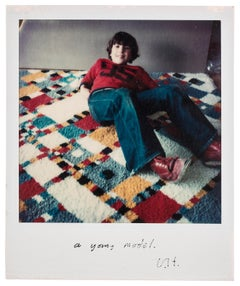 A Young Model -- Unique, Polaroid Print, Photograph by David Hockney