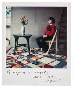 Byron Upton -- Unique, Polaroid Print, Photograph by David Hockney