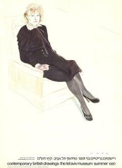 1980 After David Hockney 'Celia, Paris' Pop Art Israel Offset Lithograph