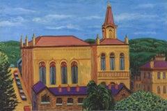 2001 David Hockney 'Victoria Hall, Saltaire' Pop Art United Kingdom Offset