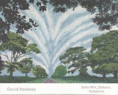 2008 After David Hockney 'Summer Sky' Pop Art United Kingdom Offset Lithograph