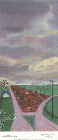 2009 After David Hockney 'Less Trees Near Warter' Pop Art Offset Lithograph