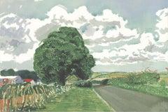 2020 David Hockney 'Road and Tree Near Wetwang' Pop Art United Kingdom Offset