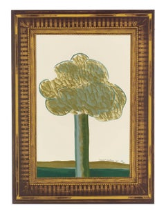 A Picture of a Landscape in an Elaborate Gold Frame -- Lithograph by Hockney