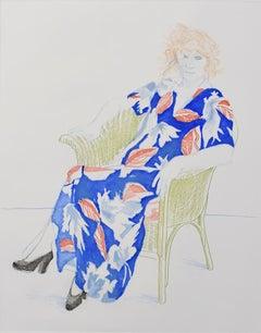 Celia in a Wicker Chair