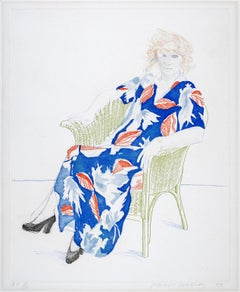 Celia in a Wicker Chair - David Hockney, Pop Art, Portrait, Etching, Aquatint