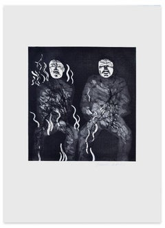 Corpses On Fire - Original Etching by David Hockney - 1969