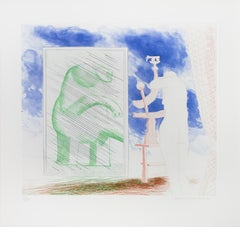 David Hockney, A Picture of Ourselves, from the Blue Guitar portfolio , 1977