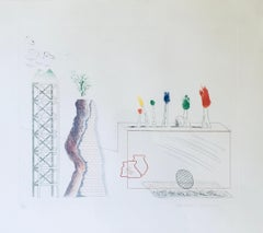 David Hockney 'A Tune' from The Blue Guitar Signed Limited Edition Print