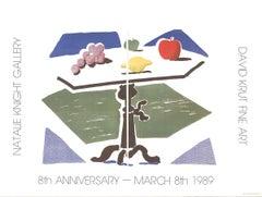 "Apple, Grapes, Lemon on a Table-19"" x 25.5""-Poster-1989-Pop Art"