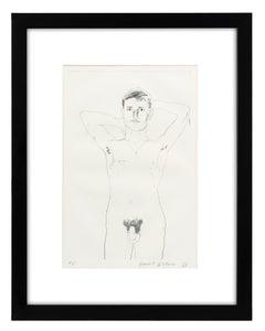 David Hockney Etching Nude Male 1966 Original Poems
