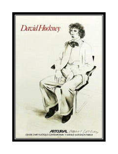 David Hockney Hand Signed Artcurial Poster