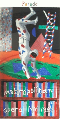 David Hockney - Harlequin from Parade - 1981 Serigraph