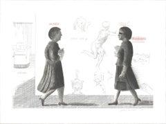 "Homage to Michelangelo - 23.5"" x 31.25""-Etching-1975-Pop Art-Gray"