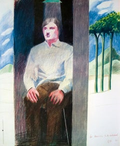 "David Hockney-Prisoner from Amnesty International-28.75"" x 23.75""-Poster-1977"