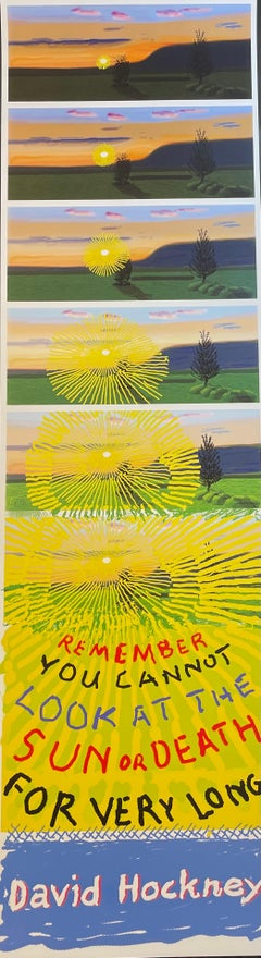 David Hockney Remember You Cannot Look At The Sun Or Death For Very Long COA