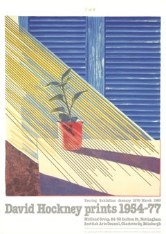 "David Hockney-Sun from the Weather Series-37"" x 24""-Poster-1981-Pop Art-Blue"