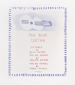 David Hockney, The Blue Guitar, from The Blue Guitar portfolio , 1977