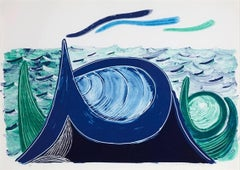 "David Hockney, ""The Wave"", Lithograph on Arches, (6/50), 1990"