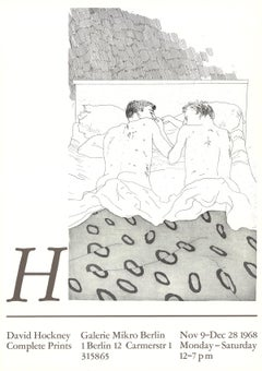 Exhibition Poster - Two Boys Aged 23 or 24 - 1968
