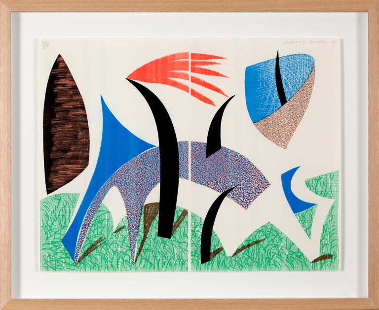 Diptychon, Print, Homade, Contemporary by David Hockney For Sale 1