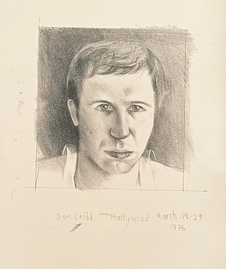 David Hockney Portrait Print - DONALD CRIBB