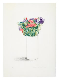 Godetia - David Hockney, Still-Life, Print, Etching, Aquatint, Pop Art