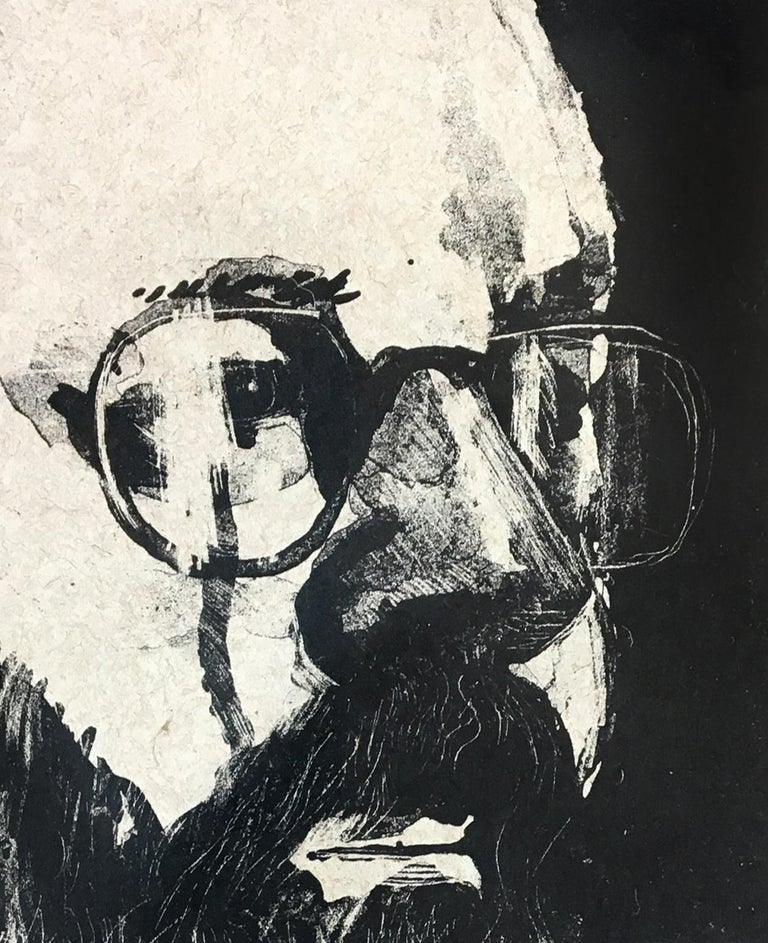 This David Hockney portrait depicts Henry Geldzahler, famed curator at the Metropolitan Museum of Art, New York. Hockney and Geldzahler met at Andy Warhol's Factory in 1963, and would become fast friends, travelling together throughout Europe. It