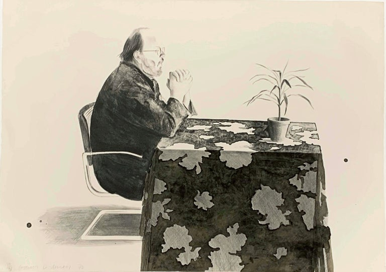 David Hockney Portrait Print - HENRY AT TABLE