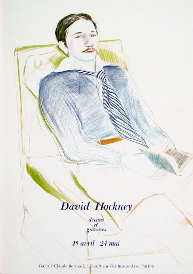 David Hockney Portrait Print - Jacques de Bascher de Beaumarchais