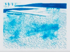 Lithograph of Water Made of Lines
