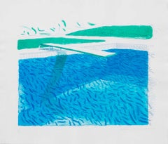 Lithographic Water Made of Lines, Crayons, and two Blue Washes