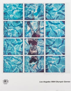Los Angeles 1984 Olympic Games -- Lithograph, Swimming Pool by David Hockney