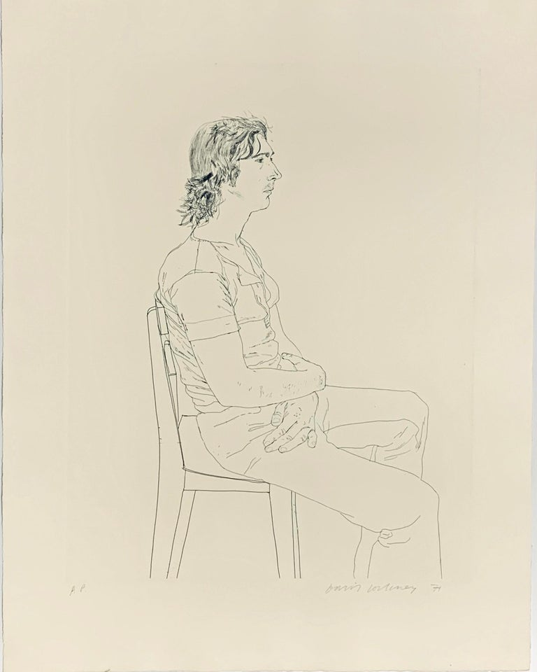 David Hockney Portrait Print - MAURICE PAYNE