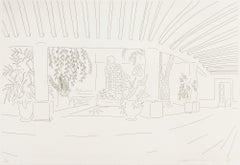 Mexican Hotel Garden, Print, Etching, Contemporary by David Hockney