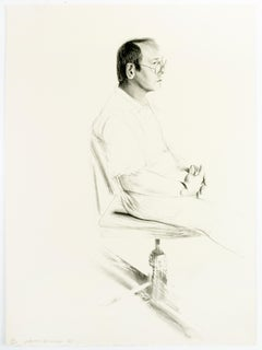 David Hockney Mo McDermott figure drawing artist portrait black and white pencil