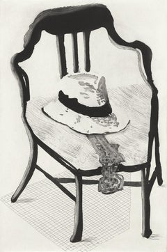 Panama Hat with a Bow Tie on a Chair