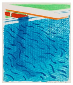Pool Made with Paper and Blue Ink for Book of Paper Pools