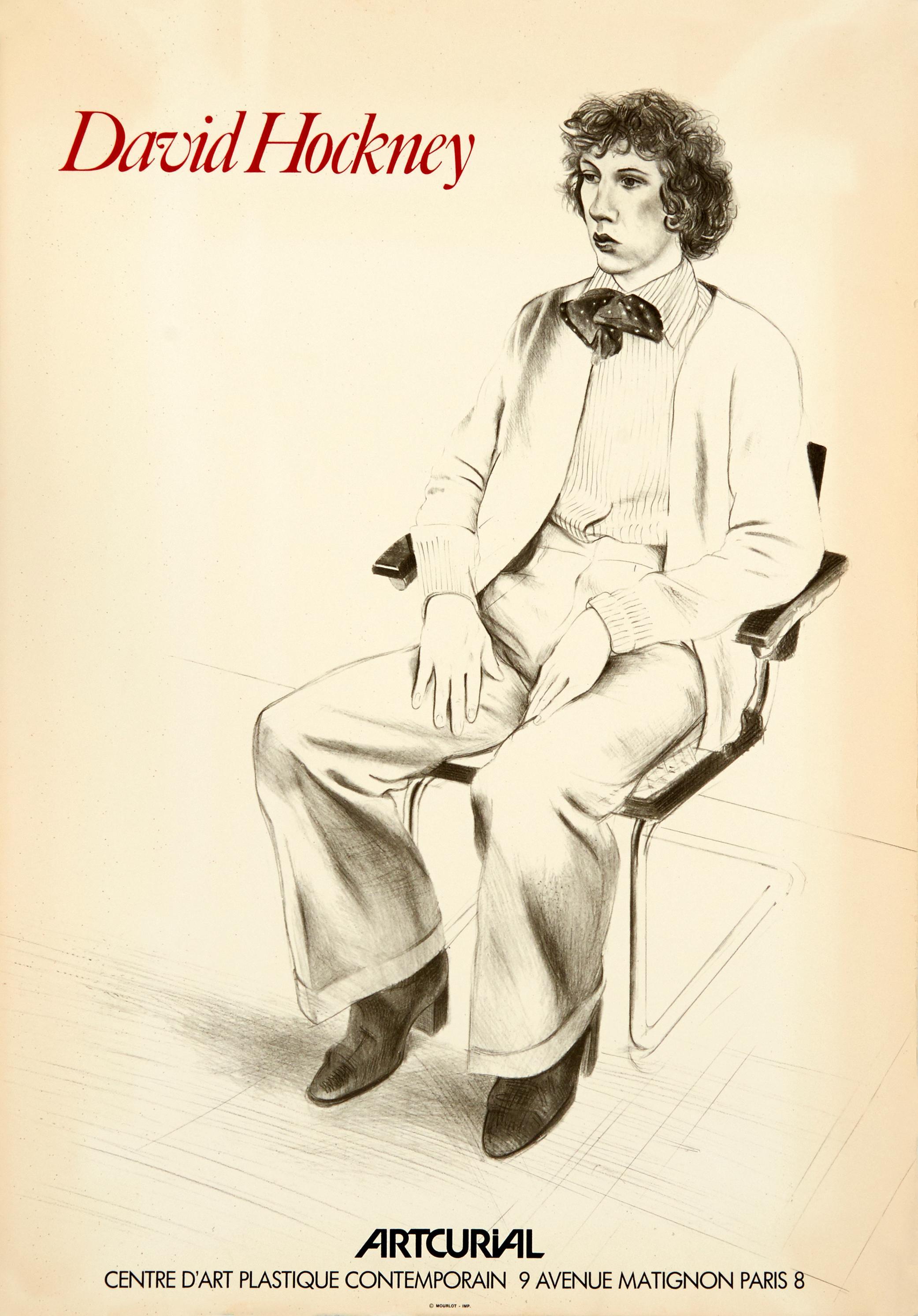 Portrait of Gregory Evans - Artcurial, Original Lithographic Poster, 1979