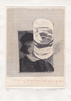 Postcard of Richard Wagner with a Glass of Water (from '18 small prints' set)