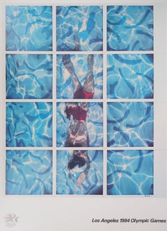 Swimmer / Pool Diver - Offset Lithograph (Olympic Games, Los Angeles 1984)