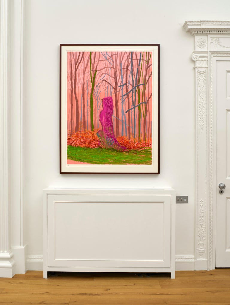 The Arrival of Spring in Woldgate, East Yorkshire in 2011, 15 March 2011 - Beige Figurative Print by David Hockney