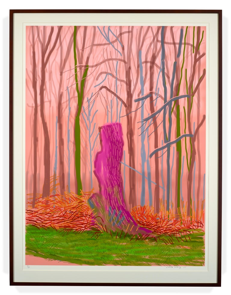 David Hockney Figurative Print - The Arrival of Spring in Woldgate, East Yorkshire in 2011, 15 March 2011