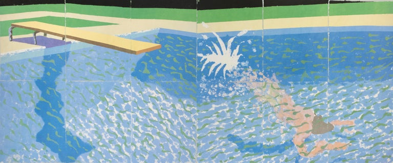 The Australian National Gallery Canberra (Paper Pool 17) vintage poster - Print by David Hockney