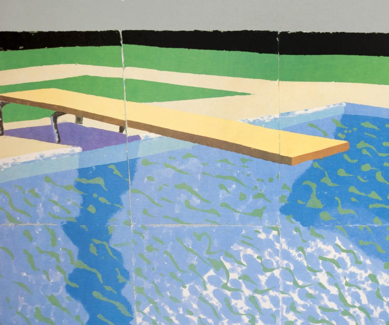 The Australian National Gallery Canberra (Paper Pool 17) vintage poster - Gray Figurative Print by David Hockney